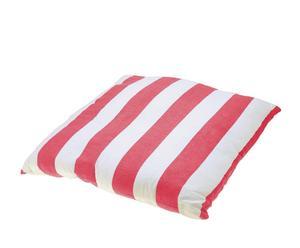 """Poduszka """"Stripe Thin"""", biało-czerwona"""