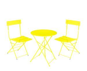 """Stolik z 2 krzesłami """"Bistro"""", żółty"""