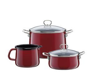 """Komplet kuchenny 3-elementowy """"Rosso"""""""