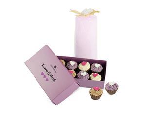 "Pudełko czekoladek ze świecą ""Cupcakes"""