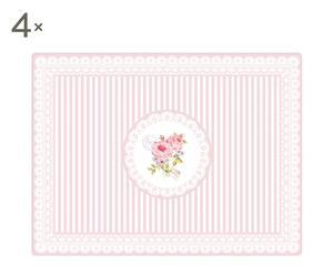 """Zestaw 4 podkładek """"Pink Roses"""""""