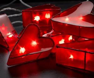 """Girlanda świetlna """"Evelyn Hearts"""", czerwona"""