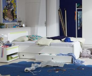 """Łóżko młodzieżowe """"Bibi"""", biało-zielone"""