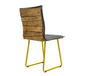 """Krzesło """"Gont"""" na płozach, żółto-szare"""