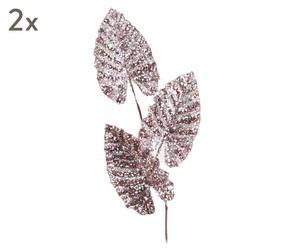 """Komplet 2 dekoracji """"Pink Leaves"""""""