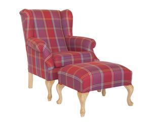 "Komplet fotela i pufa ""Roland I"""