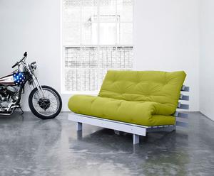 """Sofa 2-osobowa rozkładana """"Roots"""", zielona"""
