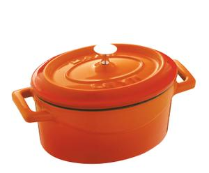 """Garnek żeliwny emaliowany 10 cm """"Trendy Orange"""""""