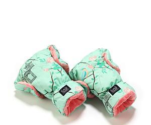 "Mufka rękawice ""Maggie Rose Mint Coral"""