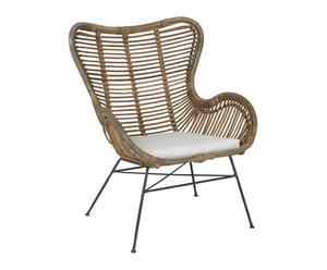 """Krzesło rattanowe """"Borneo"""", 76 x 70 x 90 cm"""