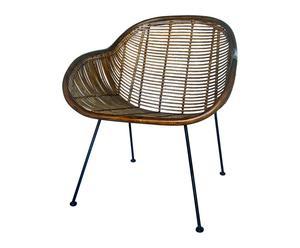 """Krzesło rattanowe """"Lausanne"""", 71 x 53 x 81 cm"""