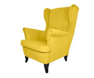 """Fotel """"Uszak"""", żółty, 82 x 95 x 105 cm"""