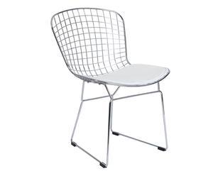 """Krzesło """"Cromo"""", białe"""