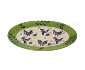 "Patera owalna ""Blue Rooster"""