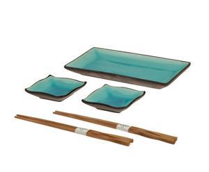 "Komplet naczyń i sztućców do sushi ""Tokyo Blue"""
