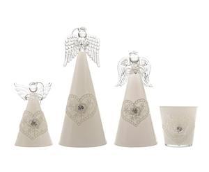 """Komplet 3 aniołków i świecznika """"Angels"""""""