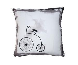 """Poduszka """"Bicykl"""", biała"""