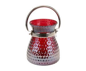 """Latarenka """"Anielle"""", czerwona, wys. 17.5, Ø 15 cm"""