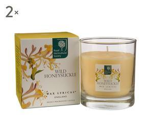 """Zestaw 2 świec """"Aroma"""", zapach: Wildhoney"""
