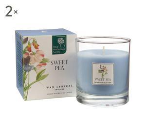 """Zestaw 2 świec """"Aroma"""", zapach: Sweet Pea"""