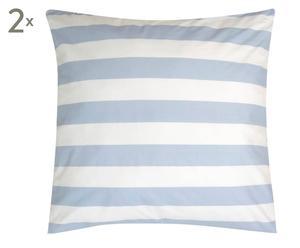 """Súprava 2 obliečok na vankúše """"Stripe Light Blue"""", 80 x 80 cm"""