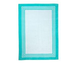 """Ręcznik plażowy """"Frame Türkis"""", 150 x 200 cm"""