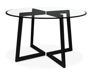 "Stôl ""Mio Black"", Ø 120, výš. 75 cm"