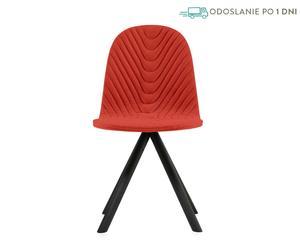 """Stolička prešívaná v štýle rybej kosti """"Mannequin 01 Black V"""", 43 x 40 x 81 cm"""