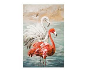 """Nástenná dekorácia """"Flamingos"""", 3 x 60 x 90 cm"""