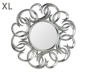 "Nástenné zrkadlo ""Silver Swirl"", Ø 104 x 5 cm"