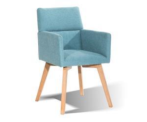 """Stolička """"Ebony Teal"""", 51,5 x 58 x 85,5 cm"""