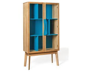"""Vitrína """"Avon Blue"""", 88 x 40 x 165 cm"""