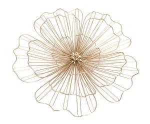 "Nástenná dekorácia ""Flower Gold"", 49,5 x 4 x 49,5 cm"