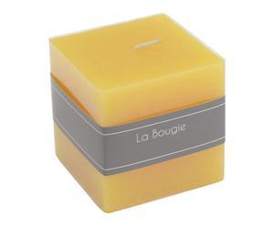"Sviečka ""Honey Yellow II"", 7,5 x 8 x 7,5 cm"