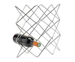 """Stojan na víno """"Damian Silver"""", 16 x 38 x 37 cm"""