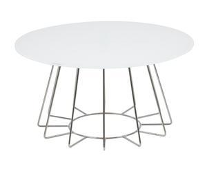 """Konferenčný stolík """"Casia White"""", ø 80, výš. 40 cm"""
