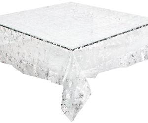 "Obrus ""Glittery Silver"", 140 x 140 cm"