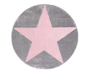 "Koberec ""Round Superstar Grey-Pink"", ø 133, výš. 1,5 cm"
