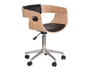 """Otočná stolička """"Myles Black"""", 49 x 51 x 82 cm"""
