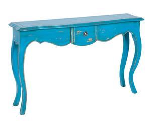 "Konzolový stolík ""Fabrice Blue"", 30 x 120 x 80 cm"
