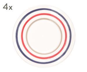 """Sada 4 tanierov """"Cucina"""", ø 24, výš. 2,5 cm"""
