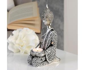 """Świecznik na tealighty """"Buddha"""", 8 x 14 x 22 cm"""