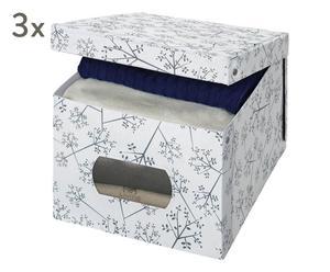 """Komplet 3 pudełek do przechowywania """"Alice"""", 50 x 42 x 31 cm"""