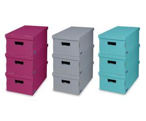 """Komplet 9 pudełek do przechowywania """"Jules"""", 52 x 29 x 20 cm"""