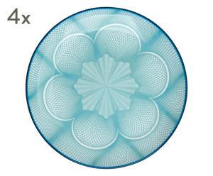 """Sada 4 tanierov """"Spyro Blue"""", ø 19, výš. 3 cm"""