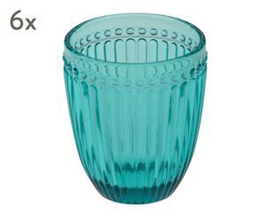 """Sada 6 pohárikov """"Loire Blue"""", obj. 350 ml"""