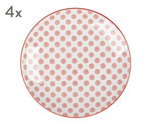 """Sada 4 tanierov """"Taipei V"""", ø 21,5, výš. 2,5 cm"""