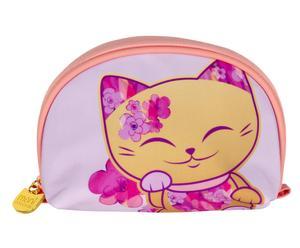 "Kozmetická taštička ""Mani Lucky Cats Pink"", 6 x 18 x 13 cm"