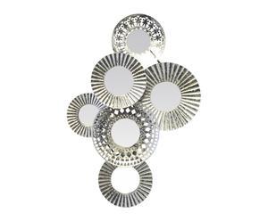 """Dekoratívne zrkadlo """"Moucharabie Silver"""", 52 x 6 x 80 cm"""