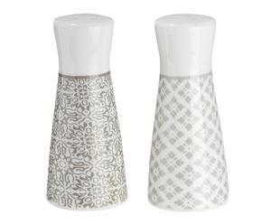 """Soľnička a korenička """"Grey elegance"""", ø 4, výš. 8 cm"""